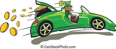 Leprechaun, Cabrio und Treas