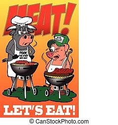 lets, essen, fleisch