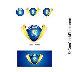 Letter s Kugel 3d Logo.