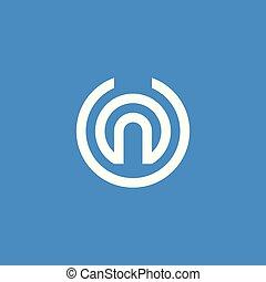 Letter U, N Logo Icon. Abstraktes Alphabet-Schild-Design für Business-Unternehmen. Vector Illustration.