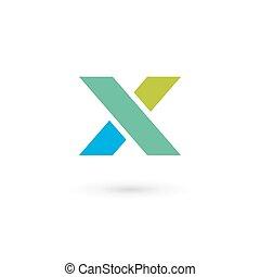 Letter X Logo Symbol Design Vorlage Elemente.