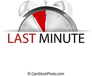 Letzte Minute.