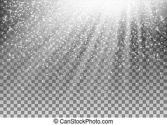 Leuchteffekt auf transparenten Hintergrund. Vector