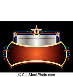 Leuchtendes Banner mit Sternen