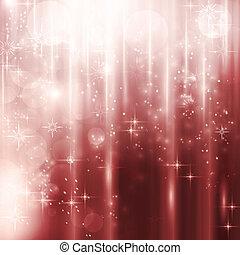 Leuchtkäste mit Sternen und Bokeh-Hintergrund