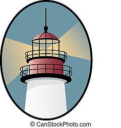 Leuchtturm-Ikone