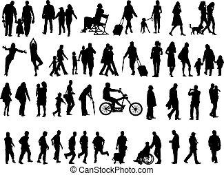 Leute über 50 Silhouette