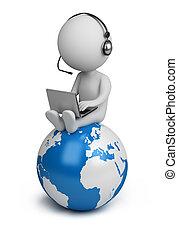leute, global, -, manager, klein, 3d