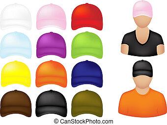 Leute mit Kappen-Ikonen