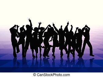 Leute tanzen Hintergrund 1302.