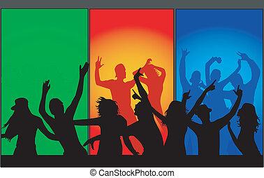 Leute tanzen.
