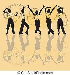 Leute tanzen