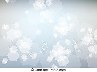 Licht funkelnder feierlicher Hintergrund mit weißem Leuchten