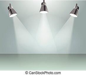licht, vektor, fleck, abbildung