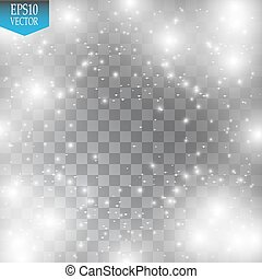 Lichteffekt. Wolke von glitzernden Staub. Vector Illustration. Weihnachten