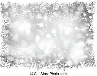 lichter, silber, hintergrund, weihnachten
