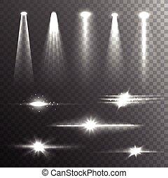 Lichtstrahlen weiß auf schwarze Komposition.