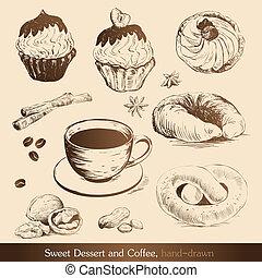lieb, bohnenkaffee, nachtisch