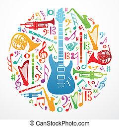 Liebe für Musikkonzept Illustrations Hintergrund