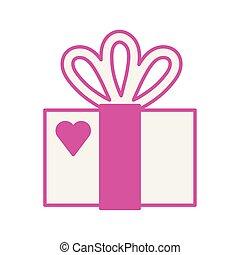 liebe, geschenkschachtel, geschenk, herz