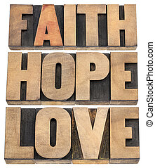 liebe, glaube, hoffnung, typographie