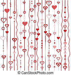 Liebe Hintergrund mit stilisierten Herzen