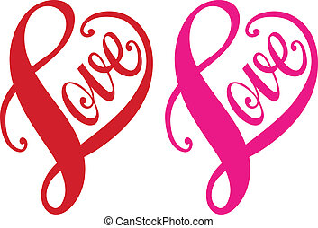 Liebe, rotes Herz, Vektor