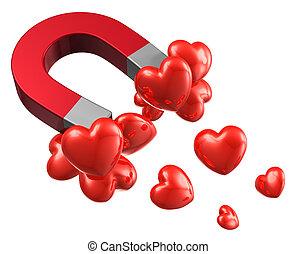 Liebe und Anziehungskonzept