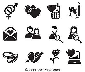 Liebe und Dating-Ikonen