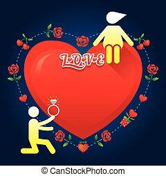 Liebe zum menschlichen Symbol: Heirat.