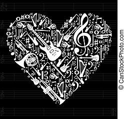 Liebe zum Musikkonzept Illustration
