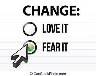 Lieben oder fürchten Veränderungen
