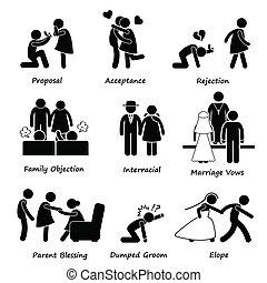 Liebespaar Eheprobleme.