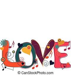 Liebestext in Hippie-Hirn
