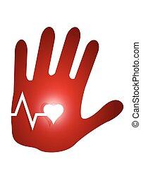 Lifeline Hand Illustration Design.