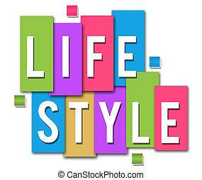 Lifestyle bunte Streifen