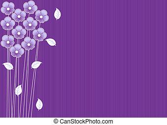 Lila Hintergrund mit Blumen entfernen