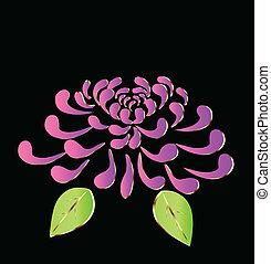 lila, lotusblüte, logo