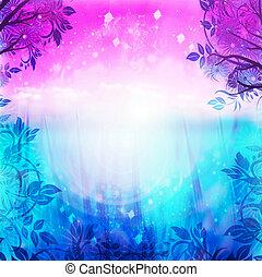 Lila und blauer Frühlings Hintergrund