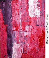 Lila und rosa abstrakte Kunst.