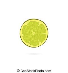 Lime Scheibe Vektor Icon isoliert auf weißem Hintergrund.