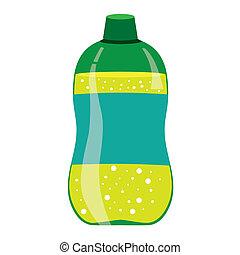 limonade, grün, flasche