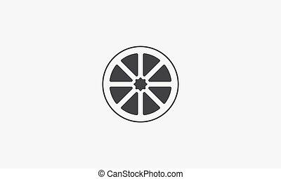 limonellescheibe, kreativ, abbildung, vektor, icon., hintergrund., weißes