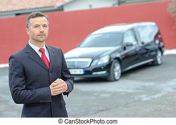 Limousinen-Fahrer.