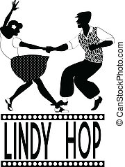 Lindy Hop Silhouette.