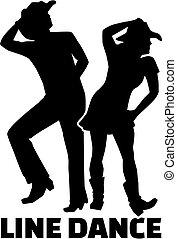 Line Dance gepaart mit Wort.