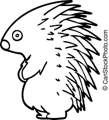 Line-Zeichnende Zeichentrickfilme spiky Igel.