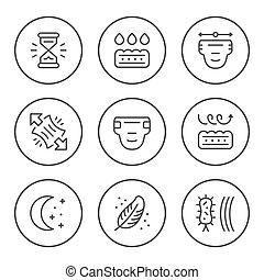 linie, satz, windel, runder , heiligenbilder
