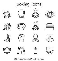 linie, stil, satz, boxen, schlanke, ikone