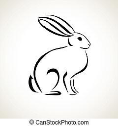 Linienzeichnung des Kaninchens.
